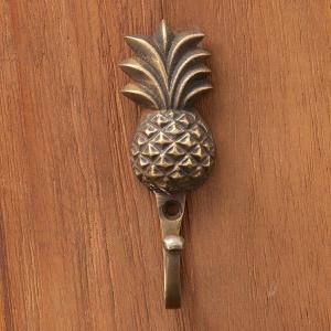 パイナップル パイン フック アンティーク ブロンズ インテリア 荷物かけ 真鍮取っ手 loopsky