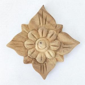 ウッドカービング 壁面 インテリア 壁飾り レリーフ 建材 木製 チーク 天然木 無垢材 アジアン雑貨 浮き彫り おしゃれ ナチュラル 花模様 8|loopsky