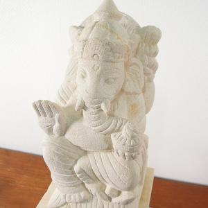 ガネーシャ 石像 ストーン 石彫り インテリア ガネーシャ 神様 オブジェ お守り 玄関 アジアン雑貨 バリ インド|loopsky