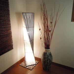 バンブースタンドランプ アジアン 間接照明 スタンド 照明 ライト ランプ ギフト 玄関 バリ リゾート インテリア モダン 和室 寝室 インテリアライト 照明器具 loopsky