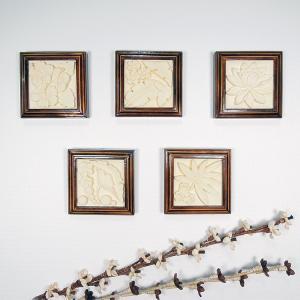 ストーンカービング パネル 壁掛け アート 石彫り ストーン アジアン雑貨 額縁 ウォールアート アジアン雑貨 ギフト 引っ越し祝い トイレ 玄関|loopsky