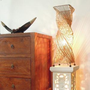 テーブルライト アジアン おしゃれ ラタン 5タイプ LED電球対応 バリ リゾート インテリア モダン スタンドライト フロアランプ 照明器具 loopsky