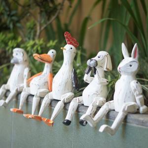 ぶらぶらウッドオブジェ アニマル 動物 木彫り 人形 鶏 にわとり 犬 いぬ 猿 サル さる アヒル あひる ウサギ うさぎ 兎 プレゼント 引っ越し祝い 玄関 loopsky