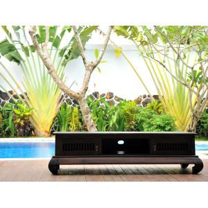 テレビ台 アジアン チーク無垢材 おしゃれ 幅155 猫脚 木製 バリ インテリア アンティーク調|loopsky