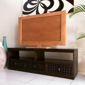 アジアン家具 テレビ台 チーク無垢材 おしゃれ 幅150 木製 バリ リゾート インテリア モダン 高級感 テレビボード ローボード 完成品|loopsky