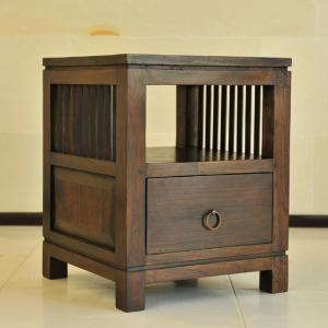 サイドテーブル アジアン家具 チーク無垢材 おしゃれ 幅40 引き出し付き 木製 バリ リゾート インテリア モダン 高級感 ベッドサイド 玄関 収納 loopsky