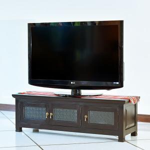 アジアン家具 テレビ台 チーク無垢材 おしゃれ 幅120 木製 バリ リゾート インテリア モダン 高級感 テレビボード ローボード 完成品|loopsky