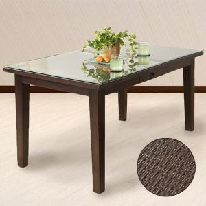 ダイニングテーブル アジアン家具 チーク無垢材 4人用 単品 おしゃれ 引き出し付き 木製 バリ リゾート インテリア モダン 高級感 4人掛け|loopsky