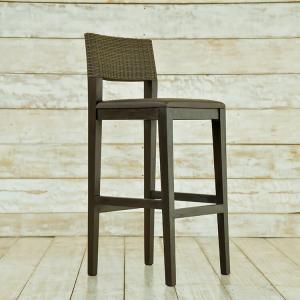 アジアン カウンターチェア ブラウン シンセティックラタン 木製 チーク 椅子 1人掛け 家具 人工ラタン バリ リゾート インテリア おしゃれ モダン セミオーダー|loopsky