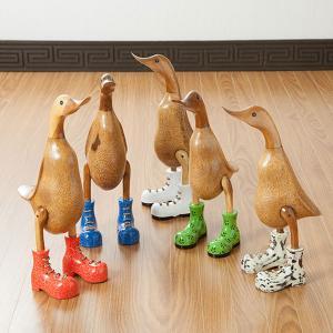アジアン雑貨 バリ雑貨 あひる アヒル インテリア 木製 置物 オブジェ アニマル 木彫り 人形 loopsky