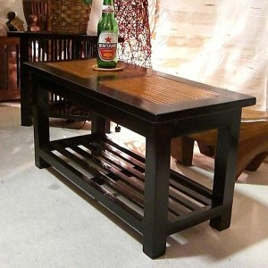 アジアン家具 ローテーブル 無垢材 バンブー おしゃれ 収納付き 幅70 木製 マホガニー バリ リゾート インテリア 南国風 リビングテーブル|loopsky