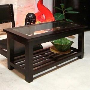 セール ガラステーブル アジアン家具 無垢材 おしゃれ 収納付き 幅70 木製 マホガニー バリ インテリア アンティーク調 レトロ風|loopsky