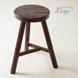 スツール 無垢 おしゃれ 木製 アジアン バリ インテリア 椅子 腰掛け椅子 丸椅子 玄関|loopsky