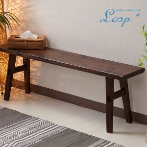 ベンチ アジアン家具 無垢材 おしゃれ 幅120 木製 バリ インテリア ベンチ椅子 長椅子 玄関|loopsky