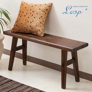 ベンチ アジアン家具 無垢材 おしゃれ 幅90 木製 バリ インテリア ベンチ椅子 長椅子 玄関|loopsky