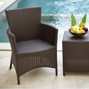 ガーデンチェア 肘付き ラタン調 おしゃれ アジアン家具 バリ リゾート インテリア モダン 高級感 ラウンジチェア ガーデン用 テラス 屋外|loopsky