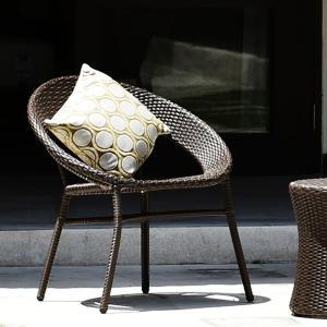 ガーデンチェア ラタン調 おしゃれ アジアン家具 バリ リゾート インテリア モダン 高級感 カフェチェア ガーデン用 テラス 屋外|loopsky