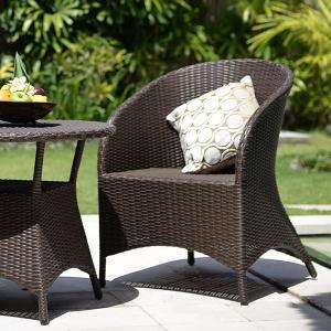 ガーデンチェア ラタン調 おしゃれ アジアン家具 バリ リゾート インテリア モダン 高級感 ラウンジチェア ガーデン用 テラス 屋外|loopsky