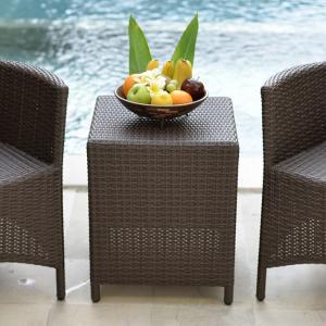 ガーデンテーブル ラタン調 おしゃれ アジアン家具 バリ リゾート インテリア モダン 高級感 サイドテーブル ガーデン用 テラス 屋外|loopsky