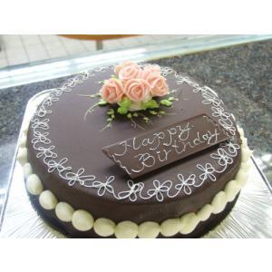 誕生日ケーキ 昔懐かしい チョコレート デコレーションケーキ (誕生日 ケーキ チョコレート)