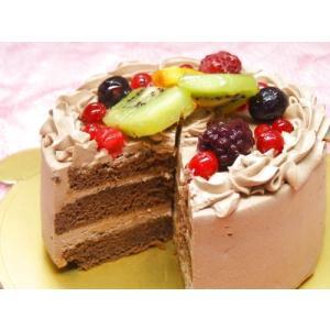 新発売!!  ■ベルギー産の高級クーベルチョコ使用の生チョコケーキです。 乳脂肪分40%の純生クリー...