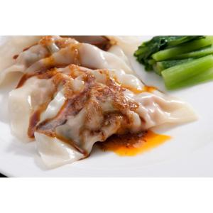 (冷凍)中国料理樓蘭 四川水餃子 12個入り  特製胡麻甘醤油ダレ+ラー油付き    遠州浜松  |lorlan