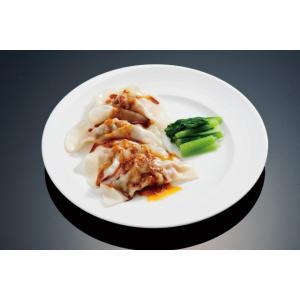 (冷凍)中国料理樓蘭 四川水餃子 12個入り  特製胡麻甘醤油ダレ+ラー油付き    遠州浜松  |lorlan|03