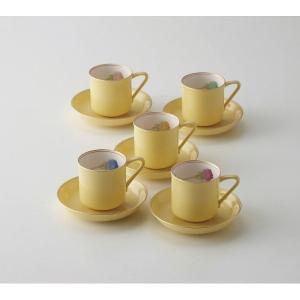 香蘭社 ブライトローズ 珈琲碗皿5客揃 和食器 陶器 コーヒーティーカップ 結婚 引き出物 出産お返し 節句 七五三内祝 新築お祝い|lotus-bear