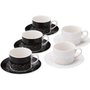ニナ リッチ アナ 5客コーヒーセット 洋食器 陶器 コーヒーティーカップ 結婚 引き出物 出産お返し 節句 七五三内祝 新築お祝い lotus-bear