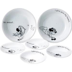 ディズニー ミッキー&ミニー パーティセット  ・大皿(Φ20.5×4cm)×2 ・小皿(Φ14×2...