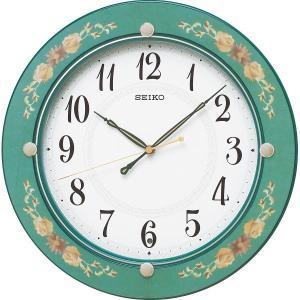 セイコー 電波掛時計 緑花柄 KX220M 結婚 出産お返し 節句 七五三内祝 新築祝 退職記念品|lotus-bear