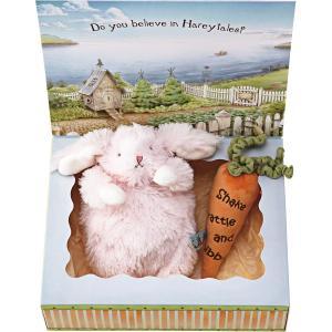 バニーズバイザベイ 雪うさぎの赤ちゃん にんじんラトル ギフトBOXセット ピンク  ベビー用品 出産祝ギフト 誕生祝い 初節句祝 お祝い 内祝 お返し|lotus-bear