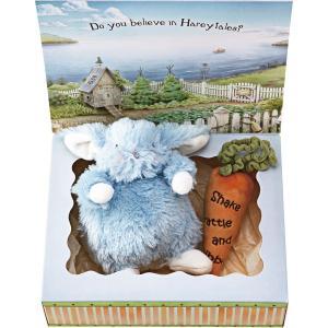 バニーズバイザベイ 雪うさぎの赤ちゃん にんじんラトル ギフトBOXセット ブルー  ベビー用品 出産祝ギフト 誕生祝い 初節句祝 お祝い 内祝 お返し|lotus-bear