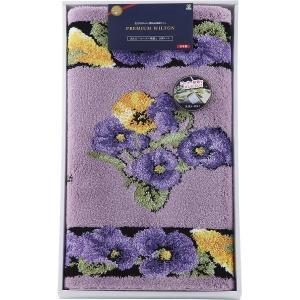 日本製ウィルトン織 洗える玄関マット(110×60cm)パープル 結婚 出産お返し 節句 七五三内祝 お礼 入園 入学お返し|lotus-bear