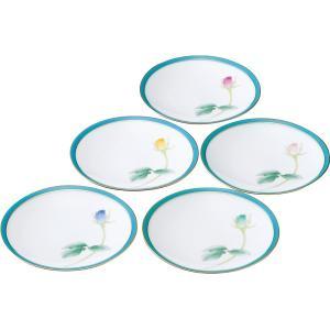 香蘭社 ブライトローズ 銘々皿5枚揃 和食器 陶器 お皿セット 結婚 引き出物 出産お返し 節句 七五三内祝 新築お祝い|lotus-bear