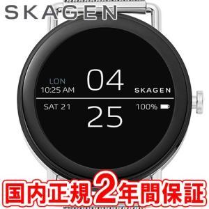 スマートウォッチ スカーゲン 腕時計 メンズ レディース SKAGEN タッチスクリーン ファルスター 42mm ブラック/シルバー メッシュ FALSTER Smartwatch SKT5000...