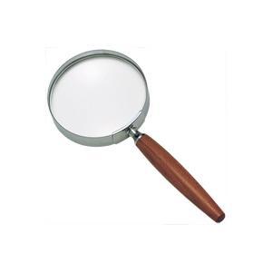 ルーペ 拡大鏡 手持ちルーペ 虫眼鏡 虫めがね 天眼鏡 木柄ルーペ 1441 2.5倍 90mm|loupe