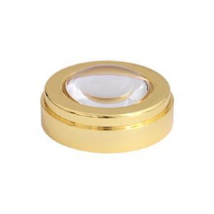 ルーペ 5倍 50mm ゴールド 文鎮 虫眼鏡 拡大鏡 ルーペ デスクルーペ 池田レンズ|loupe