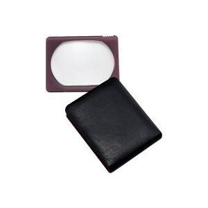 本革製 ポケットルーペ 携帯 3140B 3倍 50×60mm 虫眼鏡 拡大鏡 池田レンズ loupe