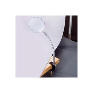 スタンドルーペ 虫眼鏡 スタンドルーペ 1780 1.8倍 130mm クランプ式 卓上 拡大鏡 ルーペ スタンド loupe