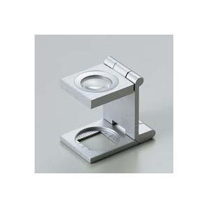 ルーペ 虫眼鏡 リネンテスター 7521 9倍 15mm シルバー ミリ&インチメモリ 測量 検査用 ルーペ 日本製 池田レンズ|loupe