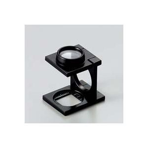 ルーペ 虫眼鏡 リネンテスター 7522 9倍 15mm ダブルレンズ ブラック ミリ&インチメモリ 測量,検査用ルーペ 日本製 池田レンズ|loupe