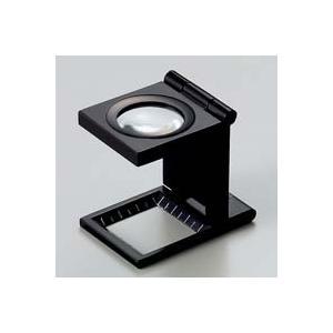 ルーペ 虫眼鏡 リネンテスター 7530 7倍 20mm ブラック ミリ&インチの白メモリ 測量 検査用 ルーペ 日本製 池田レンズ|loupe