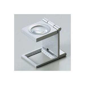 ルーペ 虫眼鏡 リネンテスター 7531 7倍 20mm シルバー ミリ&インチメモリ 測量,検査用ルーペ 日本製 池田レンズ|loupe