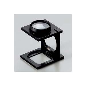 ルーペ 虫眼鏡 リネンテスター 7532 7倍20mm ダブルレンズ ブラック ミリ&インチメモリ 測量,検査用ルーペ 日本製 池田レンズ|loupe
