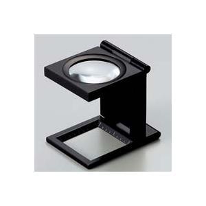 ルーペ 虫眼鏡 リネンテスター 7550 6倍 30mm ブラック ミリ&インチの白メモリ 測量,検査用ルーペ 日本製 池田レンズ|loupe