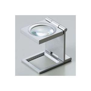 ルーペ 虫眼鏡 リネンテスター 7551 6倍 30mm シルバー ミリ&インチメモリ 測量,検査用ルーペ 日本製 池田レンズ|loupe