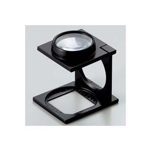 ルーペ 虫眼鏡 リネンテスター 7552 6倍 27mm ダブルレンズ ブラック ミリ&インチメモリ 測量,検査用ルーペ 日本製 池田レンズ|loupe