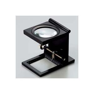 虫眼鏡 リネンテスター 6倍 ブラック 針付き 測量,検査用ルーペ 日本製 池田レンズ|loupe