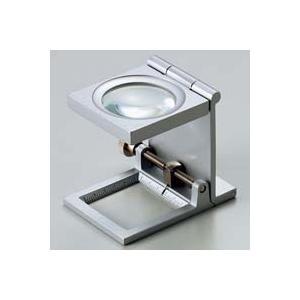 虫眼鏡 リネンテスター 6倍 シルバー 針付き 測量,検査用ルーペ 日本製 池田レンズ|loupe